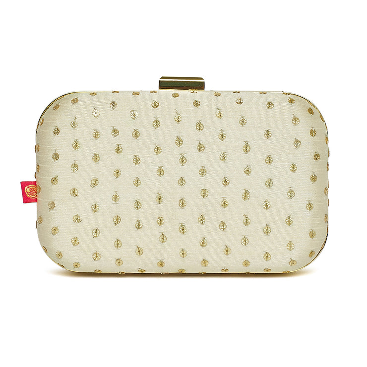 Ivory Blossom Clutch