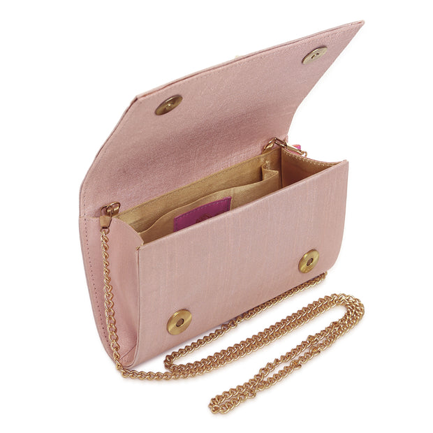 Trickle In Pink Flap clutch