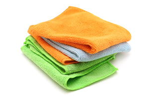 "Microfiber Cloth 24 Pack 16"" x 16"" Heavy Weight 40 Grams Per Piece"