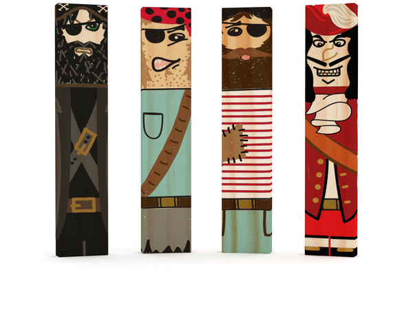 Pirates Made with Brain Blox Planks