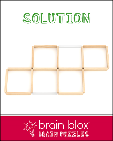 Puzzle #6: Move 2 Planks to Make 4 Squares – Brain Blox