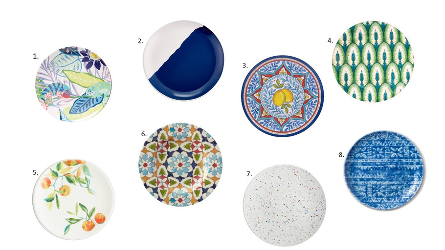 8 Melamine plates that don't just pair with bright blue skies