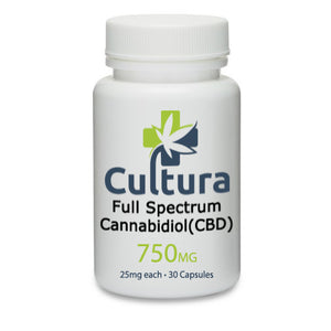 Full Spectrum Hemp Extract Vegan Capsules, 150mg-2250mg