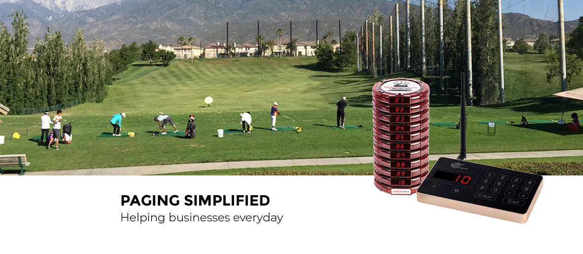 Keeping golf courses peaceful with a wireless paging system