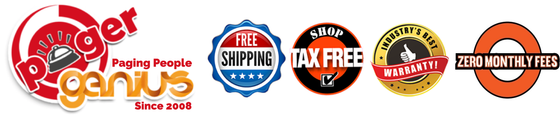 Wireless Pagers - Free Shipping - Tax Free - 2 Year Warranty - No Fees