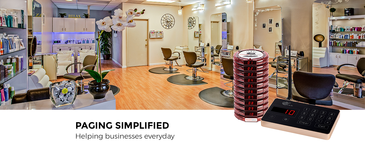 Spas and Salons Stylist and Customer Pager System