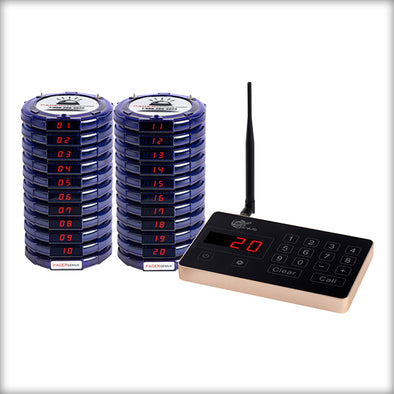 Complete Pager Genius Covid-19 Social Distancing Paging System 20 / Blue PagerGenius Restaurant Paging System