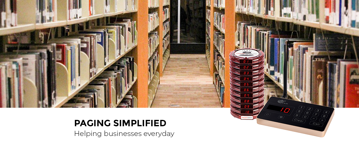 Library Pagers Keep Your Facility Distraction Free