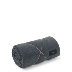 Karmameju Fleece Blanket, HIMALAYA, Dark Grey
