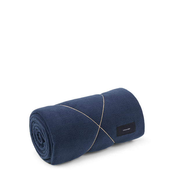 Karmameju Fleece Blanket, HIMALAYA, Navy