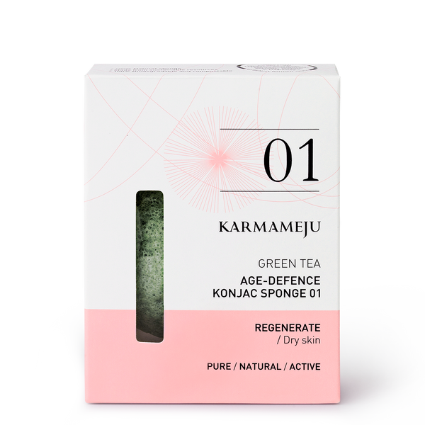 GREEN TEA / KONJAC SPONGE 01