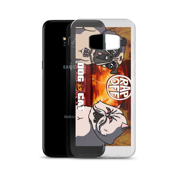 Cat vs Dog samsung phone case