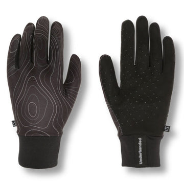 Black Topography Peformance Glove by UNDERHANDED
