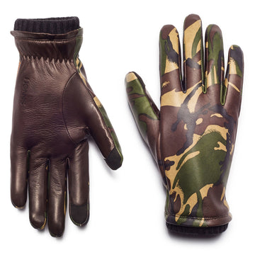 Honns Combat Camo Sheepskin Leather Glove