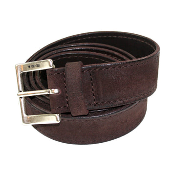 Distressed Chocolate Suede Belt by ORCIANI
