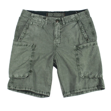 Dark Pine Ripstop Cotton Cargo Short by ORIGINAL PAPERBACKS