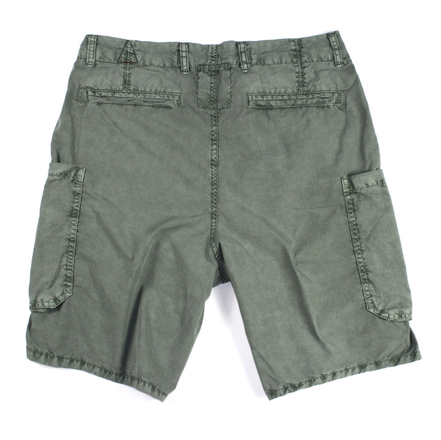 Dark Pine Cotton Cargo Short by ORIGINAL PAPERBACKS