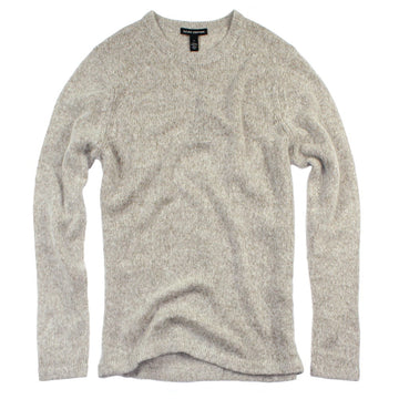 oatmeal merino cashmere lofty knit sweater