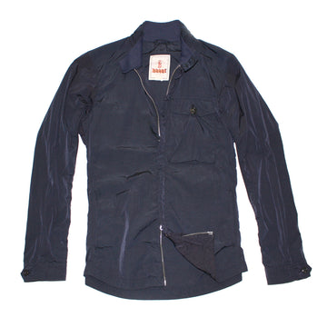 BARACUTA Deep Navy Garment Dyed Nylon Overshirt