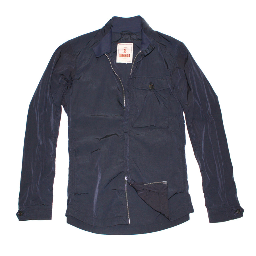 BARACUTA Deep Navy Garment Dyed Nylon Jacket