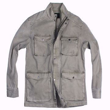 Khaki Cotton Twill Field Jacket