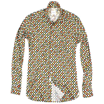 Multi Colored Cotton Retro Dot Shirt by SERGE BLANCO