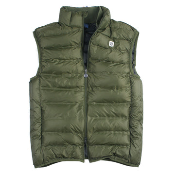 Army Green Quilted Zip Vest by SERGE BLANCO