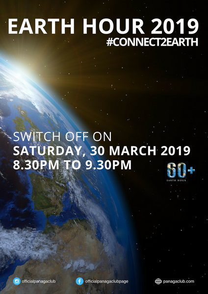 Earth Hour 2019 - Saturday, 30 March 2019 @ 8.30pm - 9.30pm