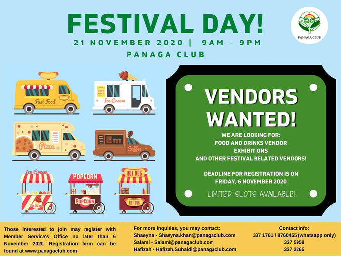 Open for Registration - Vendors Wanted for Festival Day!!