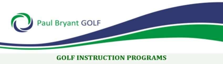 Golf Instruction Programs