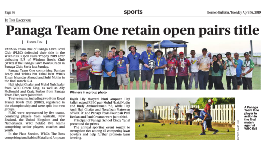 Panaga Lawn Bowls National Tournament