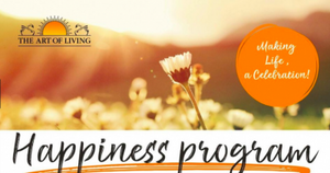 Next upcoming Happiness Program on 14 - 16 June 2019