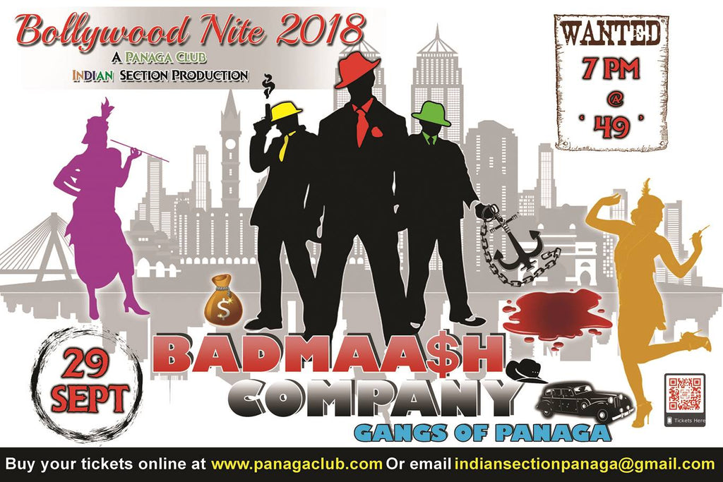 Bollywood Night 2018 - Badmaash Company Tickets Now On Sale (29/9/2018)