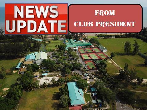News Update from Club President