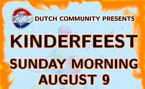 Dutch Community - Kinderfeest on 09 August 2020