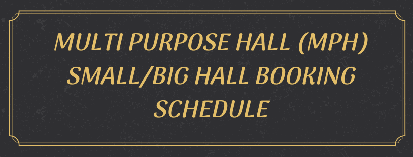 Booking Schedule For November 2019