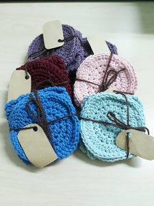 Crochet Face Scrubbies (Set of 4)