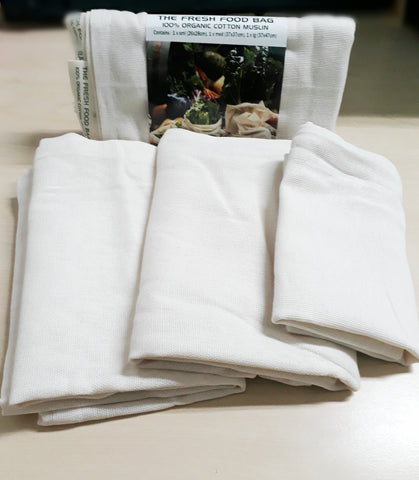 Bag - Organic Cotton Muslin Produce (Set of 3)