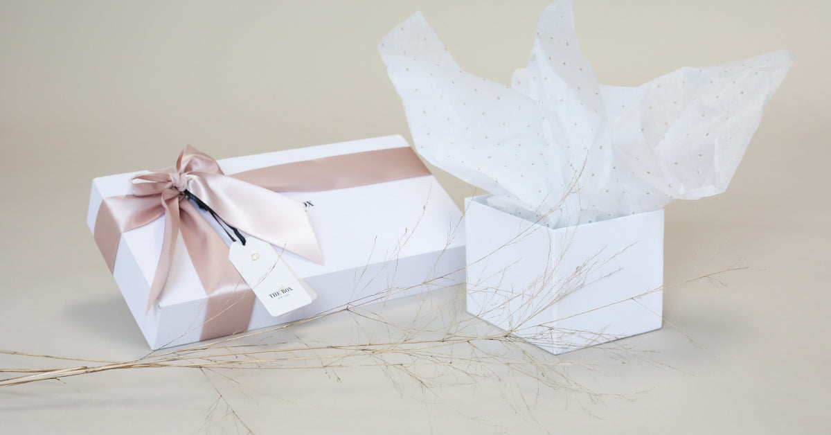 box with tissue paper