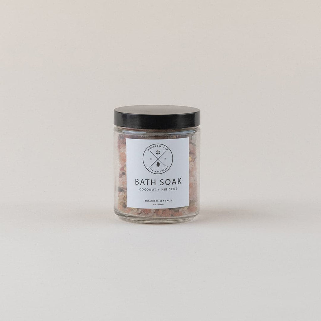 Coconut + Hibiscus Bath Soaking Salts Gift Box; by Birch Rose + Co