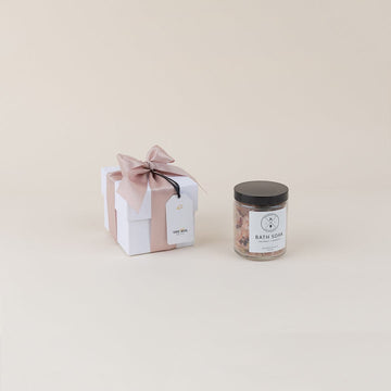 Coconut + Hibiscus Bath Soaking Salts; by Birch Rose + Co