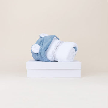 Luxe Hooded Baby Bath Towel Gift Box; by Little Giraffe