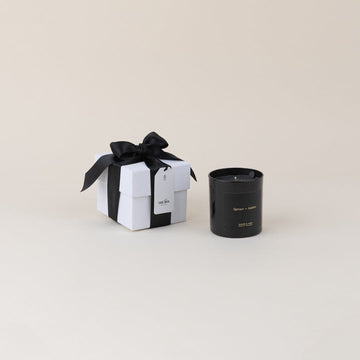 Dark Spaces Candle Gift Box in Spruce & Amber; by Brand+Iron