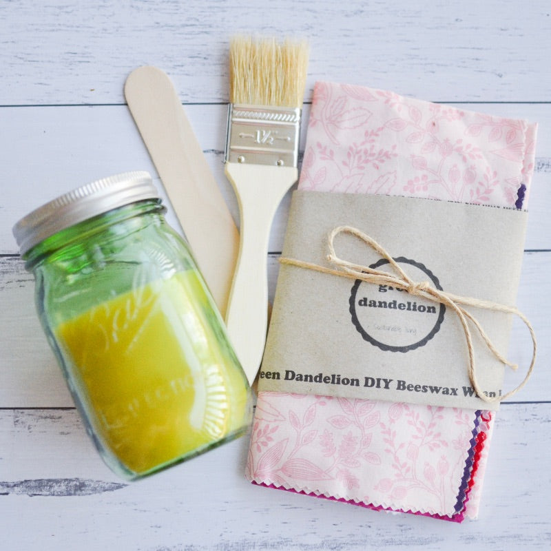 Green Dandelion DIY Beeswax Wrap Kit