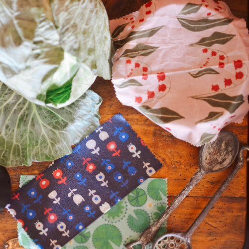 TE Beeswax Wraps - S/M/L 3 Pack