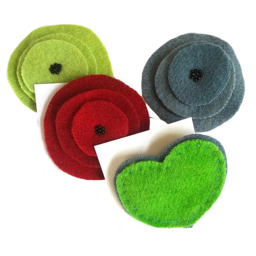 TE Felt Brooches