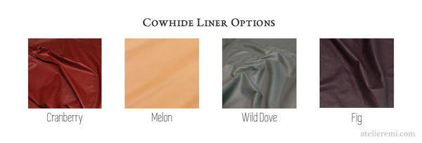 Cowhide liner color options