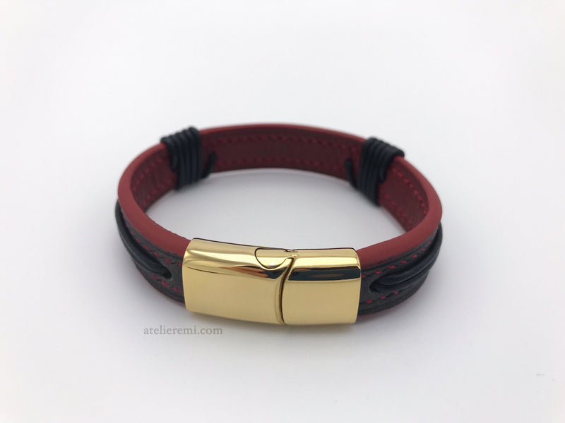 No. B01G | Couples Bracelet Set (Goatskin Lined Interior)