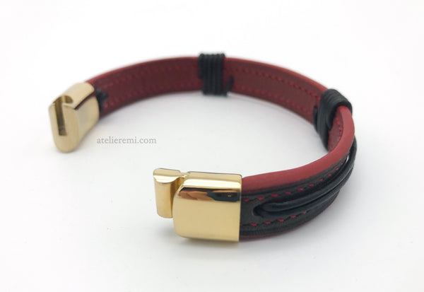 No. B01C-S | Single Personalized Bracelet (Cowhide Lined Interior)