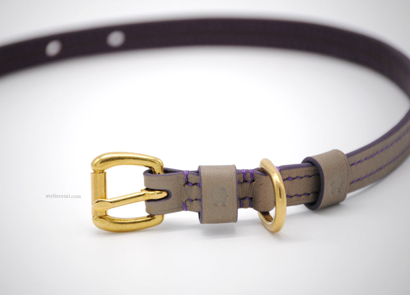 No. P05C - 13MM Dapper Dog Collar V2 (Cowhide Lined Interior)